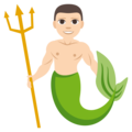 Merman: Light Skin Tone on EmojiOne 3.1