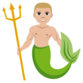 Merman: Medium-Light Skin Tone on EmojiOne 3.1