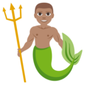 Merman: Medium Skin Tone on EmojiOne 3.1