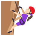 Woman Climbing: Light Skin Tone on EmojiOne 3.1
