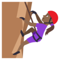 Woman Climbing: Medium-Dark Skin Tone on EmojiOne 3.1