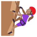 Woman Climbing: Medium Skin Tone on EmojiOne 3.1