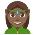Woman Elf: Medium-Dark Skin Tone on EmojiOne 3.1