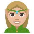 Woman Elf: Medium-Light Skin Tone on EmojiOne 3.1