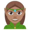 Woman Elf: Medium Skin Tone on EmojiOne 3.1