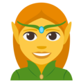 Woman Elf on EmojiOne 3.1