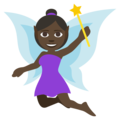 Woman Fairy: Dark Skin Tone on EmojiOne 3.1