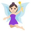 Woman Fairy: Light Skin Tone on EmojiOne 3.1