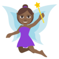 Woman Fairy: Medium-Dark Skin Tone on EmojiOne 3.1