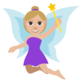 Woman Fairy: Medium-Light Skin Tone on EmojiOne 3.1