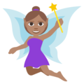 Woman Fairy: Medium Skin Tone on EmojiOne 3.1