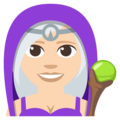 Woman Mage: Light Skin Tone on EmojiOne 3.1