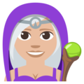 Woman Mage: Medium-Light Skin Tone on EmojiOne 3.1