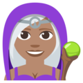Woman Mage: Medium Skin Tone on EmojiOne 3.1