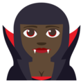 Woman Vampire: Dark Skin Tone on EmojiOne 3.1