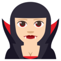 Woman Vampire: Light Skin Tone on EmojiOne 3.1