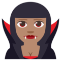 Woman Vampire: Medium Skin Tone on EmojiOne 3.1