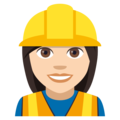 Woman Construction Worker: Light Skin Tone on EmojiOne 4.0