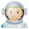 Man Astronaut: Medium-Light Skin Tone on EmojiOne 4.0