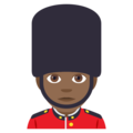 Man Guard: Medium-Dark Skin Tone on EmojiOne 4.0