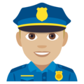 Man Police Officer: Medium-Light Skin Tone on EmojiOne 4.0