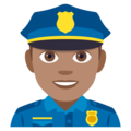Man Police Officer: Medium Skin Tone on EmojiOne 4.0