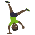 Man Cartwheeling: Dark Skin Tone on EmojiOne 4.0