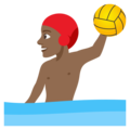 Man Playing Water Polo: Medium-Dark Skin Tone on EmojiOne 4.0