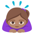 Woman Bowing: Medium Skin Tone on EmojiOne 4.0