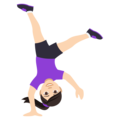Woman Cartwheeling: Light Skin Tone on EmojiOne 4.0