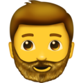 Bearded Person on Emojipedia 5.2