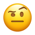 Face With Raised Eyebrow on Emojipedia 5.2