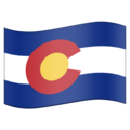 Flag for Colorado (US-CO) on Emojipedia 5.2