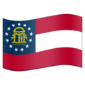 Flag for Georgia (US-GA) on Emojipedia 5.2