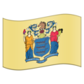 Flag for New Jersey (US-NJ) on Emojipedia 5.2