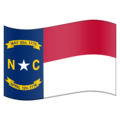 Flag for North Carolina (US-NC) on Emojipedia 5.2