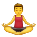 Man in Lotus Position on Emojipedia 5.2