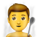 Man in Steamy Room on Emojipedia 5.2