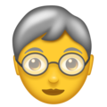 Older Adult on Emojipedia 5.2