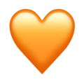Orange Heart Emoji