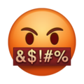 Face With Symbols Over Mouth on Emojipedia 5.2