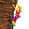 Woman Climbing on Emojipedia 5.2