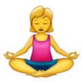Woman in Lotus Position on Emojipedia 5.2