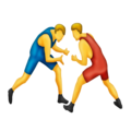 People Wrestling on Emojipedia 5.2