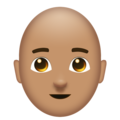 Man, Bald: Medium Skin Tone on Emojipedia 6.0