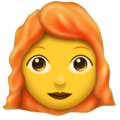 Woman, Red Haired on Emojipedia 6.0