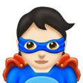 Superhero: Light Skin Tone on Emojipedia 11.0