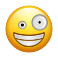 Zany Face on Emojipedia 11.1