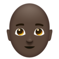 Man, Bald: Dark Skin Tone on Emojipedia 11.1