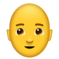 Man, Bald on Emojipedia 11.1